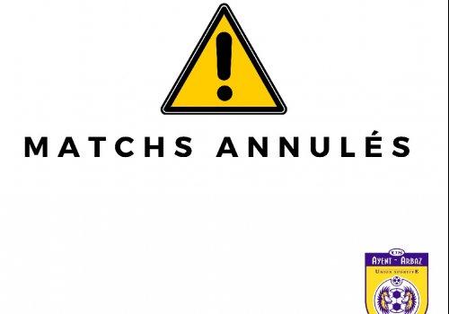 MATCHS ANNULÉS - 29.08.2020